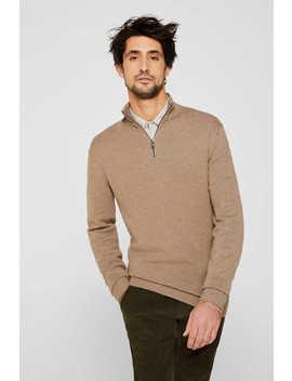 Mit Kaschmir: Sweater Aus Strukturstrick by Esprit