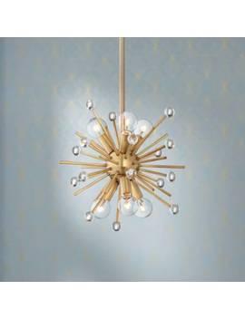 "Possini Euro Janae 12""W Antique Gold 6 Light Mini Pendant by Lamps Plus"