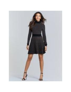 metallic-thread-knitted-dress---black-bronze by michelle-keegan