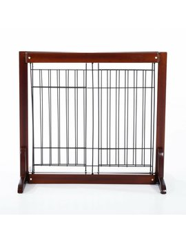 Sylvester Wooden Free Standing Adjustable Pet Gate by Archie & Oscar