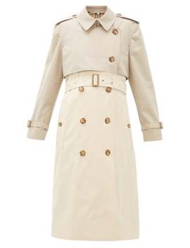 deighton-bicolour-cotton-gabardine-trench-coat by burberry
