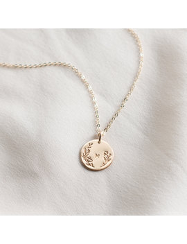 floral-framed-initial-necklace by gldn