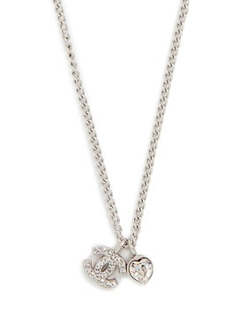 chanel-heart-cc-necklace by what-goes-around-comes-around
