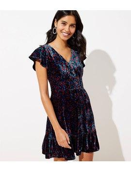 Velvet Flare Dress by Loft