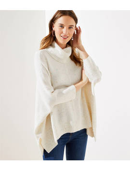 cowl-neck-poncho-sweater by loft