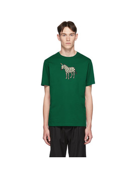 ssense-exclusive-green-zebra-regular-fit-t-shirt by ps-by-paul-smith