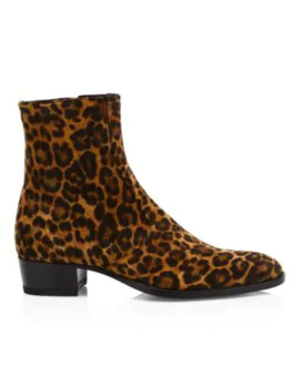 wyatt-printed-suede-ankle-boots by saint-laurent