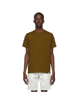 brown-standard-niels-t-shirt by norse-projects