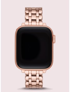 Rose Gold Tone Stainless Steel Apple Watch® Scallop Bracelet by Kate Spade