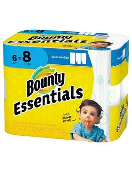 bounty-essentials-2-ply-paper-towels,-select-a-size,-6-rolls by dollar-general