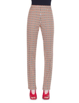 francoise-houndstooth-jacquard-cotton-blend-pants by akris-punto