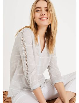 lynsey-check-blouse by phase-eight