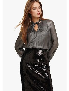 Yas Metallic Blouse by Phase Eight