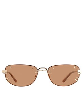 gold-&-brown-linda-farrow-edition-trinity-sunglasses by y_project