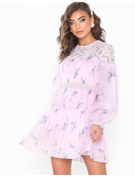 Long Sleeve Mini Flower Dress by True Decadence