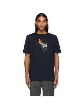 navy-zebra-cone-t-shirt by ps-by-paul-smith