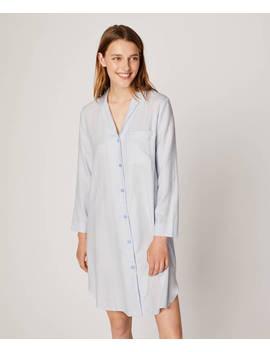 Nachthemd Mit Streifenprint Aus 100% Baumwolle by Oysho