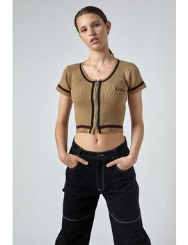 Kickers Knitted Beige Crop by The Ragged Priest