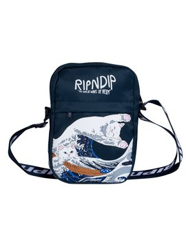 Great Wave Shoulder Bag (Navy) by Ripndip