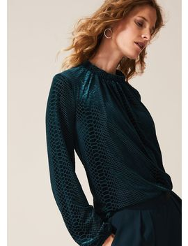 Sioned Velvet Burnout Blouse by Phase Eight