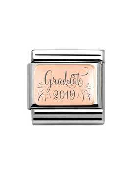Classic Rose Gold Graduate 2019 Charm by Nomination