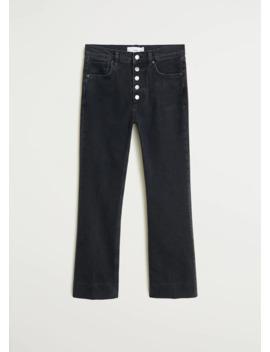 jeans-flare-bottoni by mango