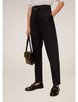 pantaloni-completo-cintura by mango