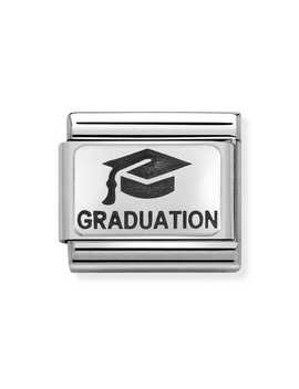 Classic Silver Graduation Cap Charm by Nomination