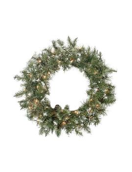 "northlight-30""-prelit-snow-mountain-pine-artificial-christmas-wreath---clear-lights by northlight"