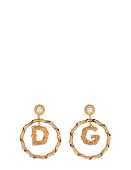 Pearls And Logo Earrings by Dolce & Gabbana