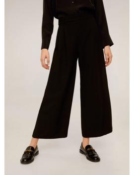 pantaloni-palazzo-cintura by mango