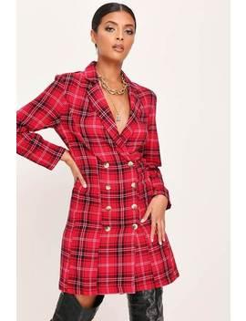 red-tartan-blazer-dress by i-saw-it-first