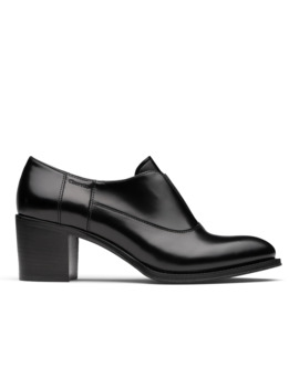 Polished Fumè Heeled Sip On Black by Church's Footwear