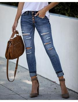 Notebook Distressed Mid Rise Skinny by Vici