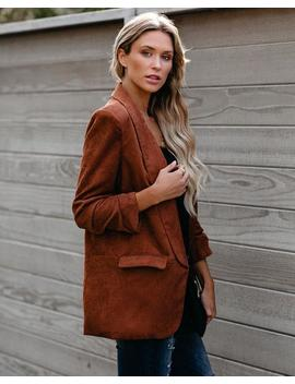 Mustang Sally Pocketed Corduroy Blazer by Vici