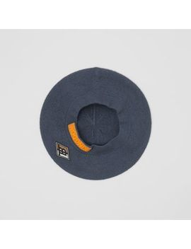 logo-graphic-merino-wool-beret by burberry