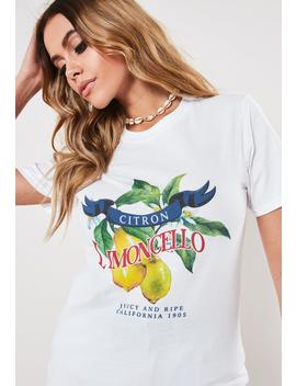 white-limoncello-graphic-t-shirt by missguided