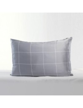19 Momme Silk Square Plaid Printing Pillowcase by Lily Silk