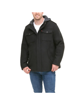 big-&-tall-levis-wool-blend-hooded-four-pocket-military-jacket by levis