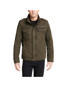 mens-levis®-stand-collar-military-jacket by levis