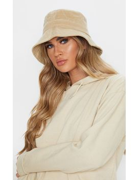 cream-cord-bucket-hat by prettylittlething