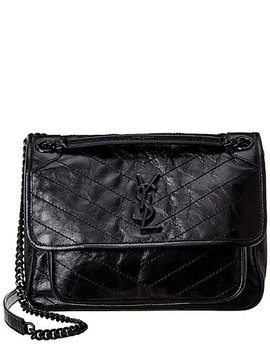 saint-laurent-medium-niki-crinkled-leather-shoulder-bag by saint-laurent