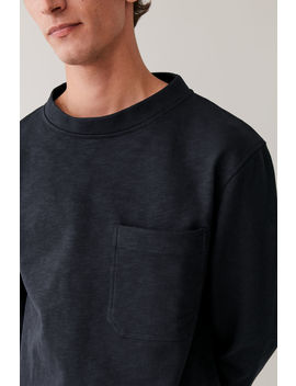 Sweatshirt With Wide Stand Collar by Cos