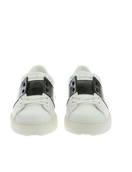 Open Sneakers In White And Black by Valentino