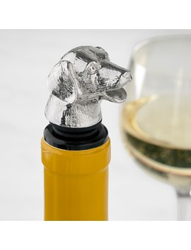 Animal Wine Stopper & Pourer, Dog by Williams   Sonoma