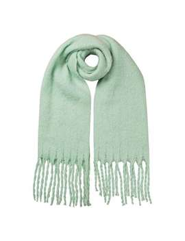 Chunky Mint Green Knitted Scarf by Olivar Bonas