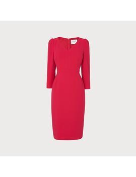 Mai Pink V Neck Dress by L.K.Bennett