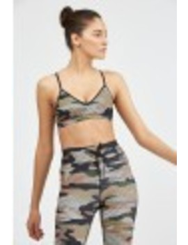 Striped Camo Matte Andie Bra by The Upside