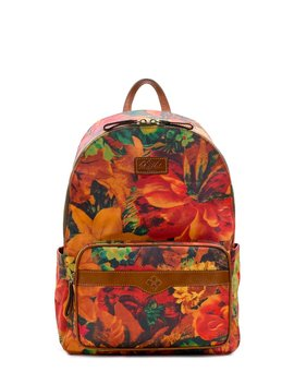 Patina Coated Canvas Collection Genoa Floral Campus Backpack by Patricia Nash