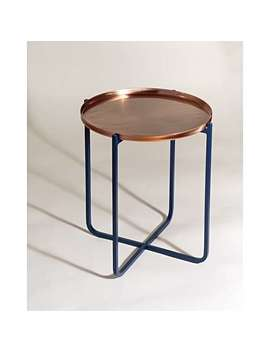 Iggy Copper & Blue Side Table Small by Olivar Bonas